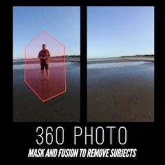 360 Photo : Mask and fusion to remove subjects