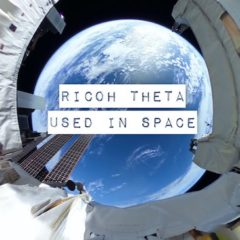Ricoh THETA used in space