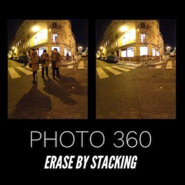 360 Photo : Erase by stacking