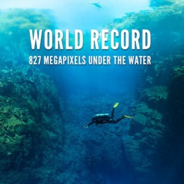 World record : 827 Megapixels under the water