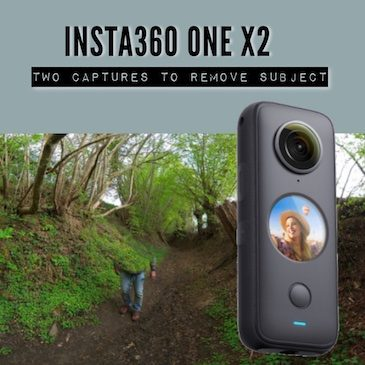 Insta360 ONE X2 – Two captures to remove subjects